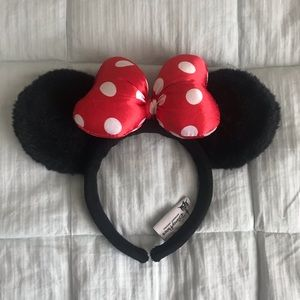 Disney Parks Minnie Mouse Ears Headband Red Black